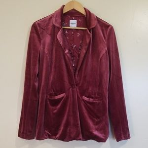 Kensie Rose Velvet Fully Lined Blazer